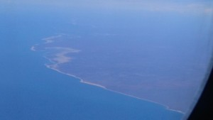 Crossing the Western Australian coast high above Broome