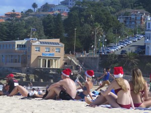 Christmas Eve on Coogee Beach